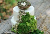 Woodland wedding cakes