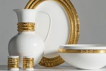 Bangles Collection / Dinnerware & Gifts in Bone China and 24k Gold