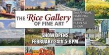 "2017 Juried Plein Air Show / The Rice Gallery of Fine Art is proud to announce our 2nd Annual National Juried Plein Air Show, an exclusive juried selection of works painted ""en plein air"" (in the open air) by many of our nation's most talented outdoor painters, opening Friday, February 24th, 2017. To purchase one of these amazing original plein air paintings please visit www.thericegallery.com"