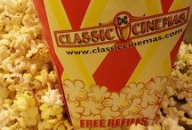 Popcorn, Drinks & Candy! / Classic Cinemas offers free refills on all popcorn, soft drinks and icees!