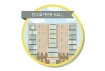 Schäffer Hall (within Lister Residence) - Year 1 & 2* / WHO LIVES HERE: First and second year undergraduate students including transfer students. As a part of Lister Residence, Schäffer Hall residents drive their own active community experience. They are relaxed but welcome the chance to get involved with their favourite activities. They also appreciate having their own space to unwind. *Limited space available for 2nd year undergraduates