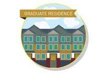 Graduate Residence - Grad Students / Students in Graduate Residence are focused, mature and appreciate being a part of a neighbourhood. They like independence, but also the convenience of a furnished suite close to campus!  Residents take advantage of tailored support for their studies including an on-site faculty member and thesis defense preparation sessions. Graduate Residence is composed of Speedwell House, Rockcress House, Stonecrop House and Juniper House!