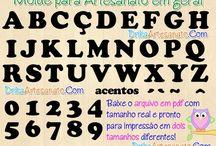 Letr@s & Números / Moldes y Patrones para cualquier cosa a Elaborar / by Mary González