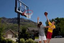 Portable Basketball Goals / Lifetime's line of portable basketball systems are made to fit everyone's game. With a high-density polyethylene portable base, all-weather nylon net, and a variety of height adjustment mechanisms, Lifetime's systems provide years of fun and exercise.