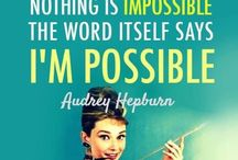 QUOTES - Audrey Hepburn / Collection of the Best Audrey Hepburn Quotes.  Also visit, www.everythingaudrey.com for more