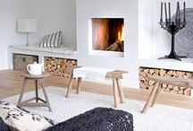 Nice FIREPLACES / Fireplaces and Wood Storage.