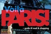 Paris, Je 'taime / Dette board indeholder en samling af bøger, der har byernes by, Paris, som omdrejningspunkt.