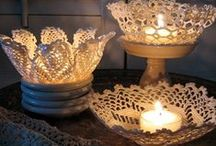 Recycled Crochet Doily idea - Uncinetto / How to recycle old crochet e doily