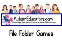 File Folder Games / Enjoy a wide selection of file folder games to share with your students!  If you would like to join this board, please visit http://www.AutismEducators.com and sign up for free seller's account and list your activities.  We will add you to this board. A PORTION OF ALL PROCEEDS WILL BE DONATED TO AUTISM AWARENESS & RESEARCH.