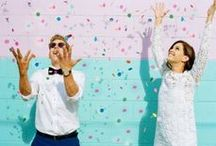 Confetti / Ideas for a Confetti Filled Couple Photo Shoot
