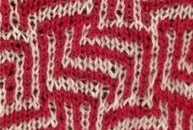 Knit:Slip stitch, Mosaic Patterns
