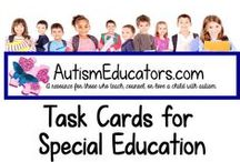 Task Cards for Special Education / A variety of Extra-Large Task Card skills for your Special Education classroom!  Visit http://www.AutismEducators.com for more unique activities for special needs students of all ages.