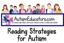 Reading Strategies for Autism / A unique selection of reading, language arts activities and teaching ideas from http://www.AutismEducators.com to keep our students with autism focused and learning!