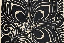 Black en white patterns / Black en white patterns for embroidery and inspiration