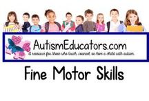 Fine Motor Skills for Autism / Practice fine motor skills - writing, tracing, cutting, and much more!  Perfect for our students who are visual learners.  All products are available on http://www.AutismEducators.com.  Enjoy!