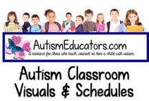Autism Classroom Visuals and Schedules / Classroom effective learning materials for students with autism. AutismEducators.com donates to autism awareness and gives back to Special Needs classrooms around the world.