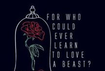 Beauty and the beast / Disney / With a dreamy far-off look And her nose stuck in a book.