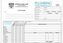 Plumbing Contractor Forms & more! / Work orders, invoices, proposals/estimates and other business products providing solutions to help up you manage and grow your business.