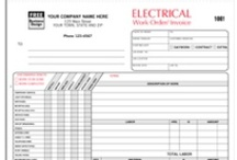 Electrical Contractor Forms & more! / Work orders, invoices, proposals/estimates and other business products providing solutions to help up you manage and grow your business.