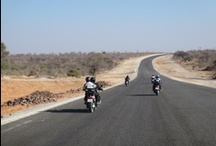 Motorbiking in Africa / Motorbike riding in southern Africa is pure pleasure. Long and empty roads take you through stunning, forever changing scenery. Most roads, untarred roads included, are generally in good condition.