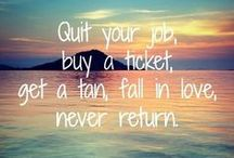 Travel Words & Wisdom ✈ / Quotes about traveling.
