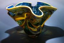 Blown Glass / Some of the blown glass I've made over the years.  Music for your Eyes.  Each piece completely and Utterly Unique.  Please feel free to re-pin as many as you like.