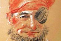 Drawings / portrety i karykatury - author Malwina Gruszecka