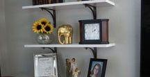 Shelf Design / Building or installing shelves and decorating them.