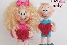 Valentines amigurumi dolls crochet pattern / Your projects made using our patterns The pattern is available for sale: ETSY: https://www.etsy.com/shop/jasminetoys RAVELRY: https://www.ravelry.com/patterns/sources/amigurumi-fairs-ravelry-store #amigurumi #crochet #crochetpattern #ilovecrochet #amigurumidoll #amigurumipattern #valentine #love