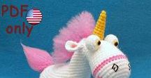 Unicorn amigurumi animal crochet pattern pdf / Your projects made using our patterns The pattern is available for sale: ETSY: https://www.etsy.com/shop/jasminetoys RAVELRY: https://www.ravelry.com/patterns/sources/amigurumi-fairs-ravelry-store #amigurumi #crochet #crochetpattern #ilovecrochet #amigurumidoll #amigurumipattern #minions #despicableme #unicorn #fairytale