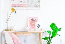 W O R K S P A C E. / Está pensando em criar uma área de trabalho em casa? Então esse painel é pra você!