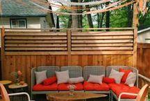 Terrasse, pergola, coin abrité au jardin