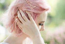 P I N K  H A I R. / Muitas inspirações de cabelo pink, rosa, salmão, pessego...