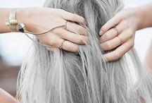 G R E Y   H A I R. / Muitas inspirações de cabelo cinza e suas variações