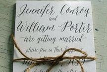 calligraphy / one of the most beautiful ways to give your wedding or event a playful but classy touch