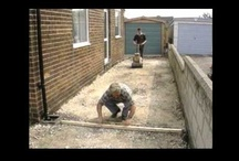 Mobicast DIY & Projects / The homeowner can easily install paving stones. There is no need for mortar setting as many varieties of paving stones can be laid using a mortar-less method. This is done by laying the stones on a sand bed then filling the joints with sand
