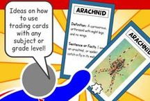 Mr. Elementary's Resources / My flashcards and word walls are excellent for teaching academic vocabulary not only to ELL students but all students.  All of my vocabulary cards come with a second set of blank cards that students can choose to use to fill in their own pictures and definitions.  You'll find fun vocabulary cards for math, science, social studies, language arts and more!