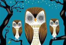 Illustration - owls / Drawn and painted #illustration with all sorts of #owls / by De Schildertuin