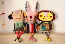 Handmade - plush toys / #Handmade #plush #toys I like / by De Schildertuin