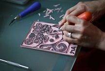 Handmade - Stamps / I like to make #stamps from #linoleum, so I'm interested in all sorts of #handmade stamps. On this board I gather #inspiration and tips to make stamps yourself. Enjoy!  / by De Schildertuin