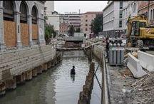 Via Poerio, ristrutturazione / Lavoro di documentazione fotografica di Giulia Candussi