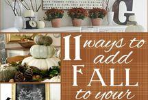 DIY Efterår/ Autumn / Fall