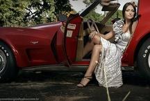 Corvettes with Beautiful Women