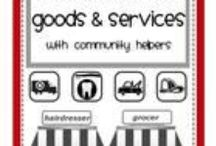 Goods/services/wants/needs / by Ruth Kuniholm