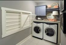 Get Dirty, Get Clean / Creative design ideas for Laundry Rooms and Mud Rooms, because sometimes we can't help making a mess, and sometimes we simply need to clean up after them.