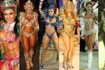 Fantasias das Rainhas / Costumes of the Queens... I used to dance with a Brazilian samba troupe here in Atlanta. And we all drool over the costumes from Carnival in Brazil. The queens, the muses, the passistas (samba dancers) all look amazing, but THESE are... EVERYTHING!