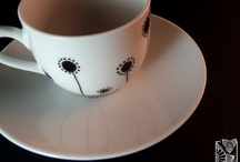 Art . my hand painted pottery / hand painted pottery desing By Elisa Viotto Arte