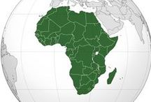 Mysterious Africa / Africa is the world's second-largest and second-most-populous continent, it covers six percent of the Earth's total surface area and 20.4 percent of the total land area. The continent is surrounded by the Mediterranean Sea to the north, both the Suez Canal and the Red Sea along the Sinai Peninsula to the northeast, the Indian Ocean to the southeast, and the Atlantic Ocean to the west. The continent includes Madagascar and various archipelagoes. Africa's name is derived as Ifriqiya or sunny place / by Isaree Thirasuwat
