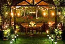 Fabulous Outdoor Spaces / Alfresco, Outdoor Garden Patios, Pergolas & Decks. Envious entertaining areas, all those things for Fabulous Outdoor Spaces : )