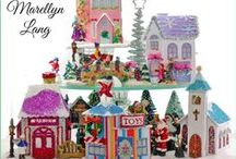 Christmas Village Printable Templates / Printable Christmas patterns to create from paper. Inspired by 'Putz' houses, glitter, and the love of the winter Christmas season.